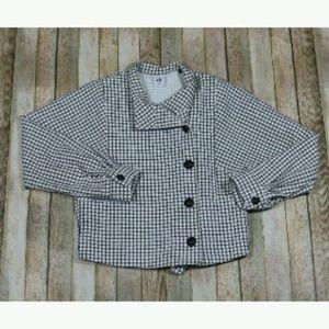 Cabi Windowpane Jacket Blazer #3173 Cropped
